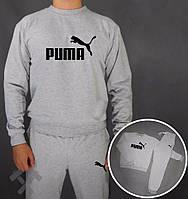 Спортивный костюм Puma, пума, серый, реглан, повседневный, в наличии, стильный, дк152