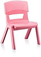 Стул детский пластиковый Jumbo No: 1 розовый (Papatya-TM)