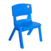 Стул детский пластиковый Jumbo No: 1 синий (Papatya-TM)