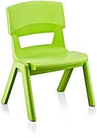 Стул детский пластиковый Jumbo No: 1 зеленый (Papatya-TM)