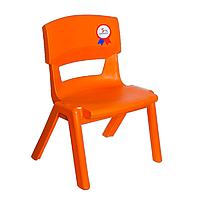 Стул детский пластиковый Jumbo No: 1 оранжевый (Papatya-TM)