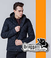 Braggart 1268 | Мужская стеганая ветровка черно-синий, фото 1