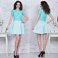 """Короткое вечернее платье с кружевом """"Есения"""", фото 1"""
