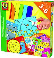 Набор для творчества - УЧУСЬ ВЫРЕЗАТЬ (16 картинок для игры, безопасные детские ножницы) 14809S