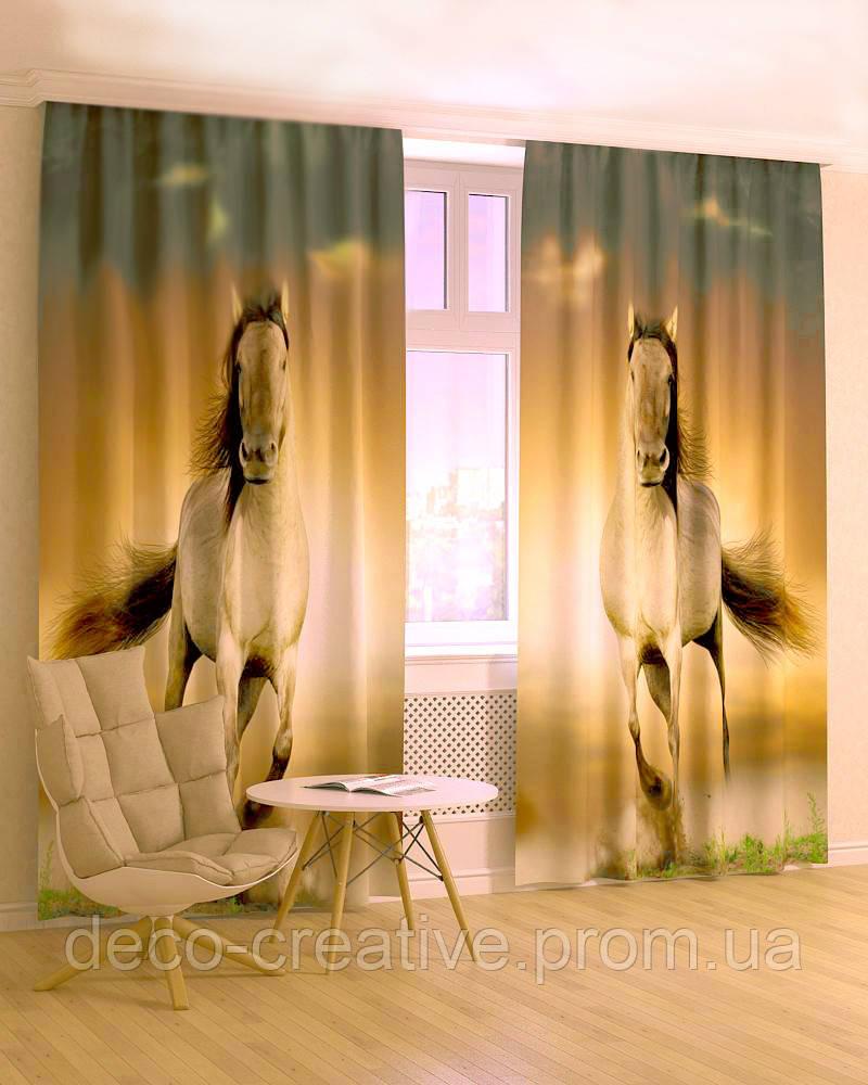 Фотошторы лошади габардин