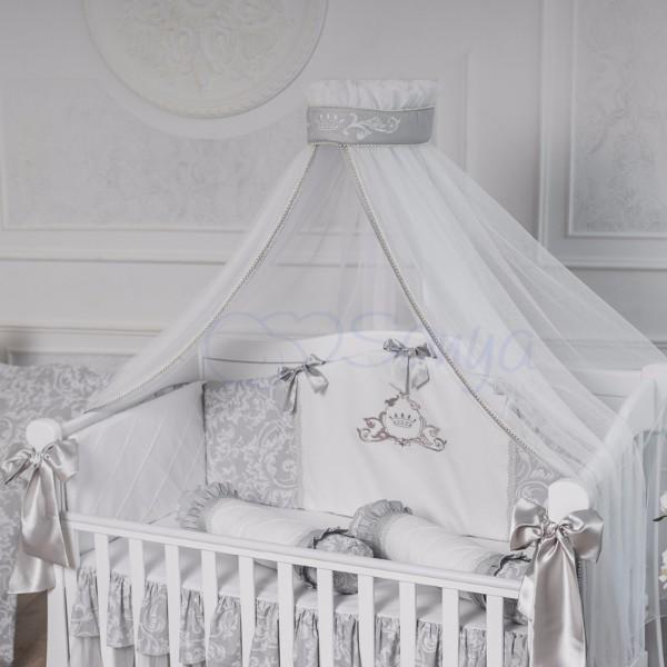 Комплект постельного белья Mon belle L'collection серый 6 пр