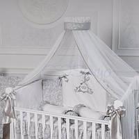 Комплект постельного белья Mon belle L'collection серый 6 пр, фото 1