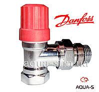"""Клапан термостатический Danfoss RA-NCX угловой (ХРОМ) DN 1/2"""" Xtra Collection"""