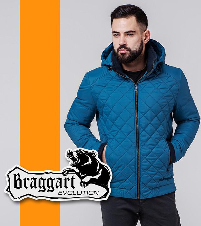 Braggart 1652 | Ветровка мужская весенне-осенняя бирюзовый р. 54