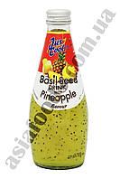 Напиток из сока Ананас с добавлением семян базилика Jus Cool 300 мл, фото 1