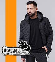 Braggart 1358 | Ветровка весенне-осенняя мужская черный