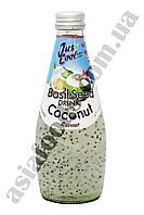 Напиток из сока Кокоса с добавлением семян базилика Jus Cool 300 мл