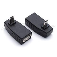 Переходник OTG USB - micro USB, угловой