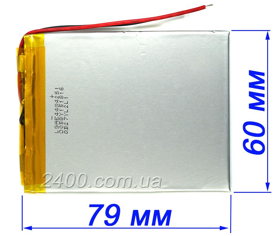Аккумулятор 2500 мАч 406080 мм 3,7в для планшетов Bravis, Nomi, Prestigio, ImPAD 2500mAh 3.7v