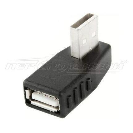 Переходник OTG USB 2.0 AF - AM, угловой