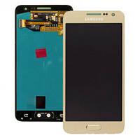 Дисплей Samsung A300 Galaxy A3 с сенсором Золотой Gold оригинал , GH97-16747F