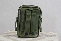 Тактическая универсальная (поясная) сумка - подсумок Mini warrior с системой M.O.L.L.E Olive (001-olive), фото 2