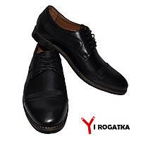 Мужские кожаные туфли CEVIVO черные, классика, кожаная подкладка b628f783f4f