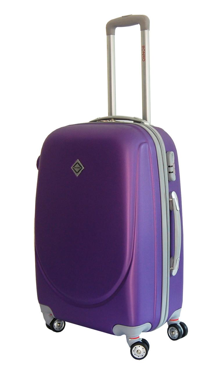 Чемодан Bonro Smile с двойными колесами (средний) фиолетовый -  Интернет-магазин
