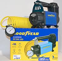 Компрессор Goodyear GY-50L LED 50л/м с фонарем, сумка для хранен.