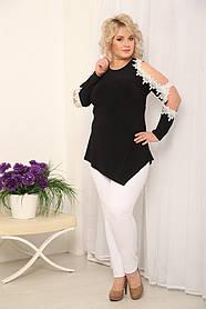 Женская нарядная туника Цветение / размер 48-72