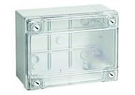 Коробка 240х190х90мм без вводов с глухими стенками прозрачная IP56