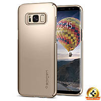 Чехол Spigen для Samsung S8 Plus Thin Fit, Gold Maple, фото 1
