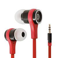 Красные наушники для MP3-плеера или телефона