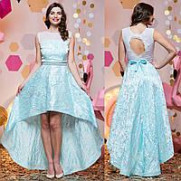 """Ошатне асиметричне вечірня сукня блакитне """"Віват"""", фото 1"""