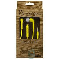 Наушники с микрофоном Samsung EO-HS330 Super Bass color желтые