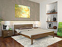 Ліжко півтораспальне з натурального дерева в спальню, дитячу Роял (Сосна, Бук) Арбор Древ, фото 2