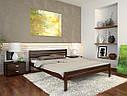 Ліжко півтораспальне з натурального дерева в спальню, дитячу Роял (Сосна, Бук) Арбор Древ, фото 5