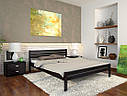 Ліжко півтораспальне з натурального дерева в спальню, дитячу Роял (Сосна, Бук) Арбор Древ, фото 3