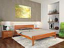 Ліжко півтораспальне з натурального дерева в спальню, дитячу Роял (Сосна, Бук) Арбор Древ, фото 6