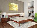 Ліжко півтораспальне з натурального дерева в спальню, дитячу Роял (Сосна, Бук) Арбор Древ, фото 7