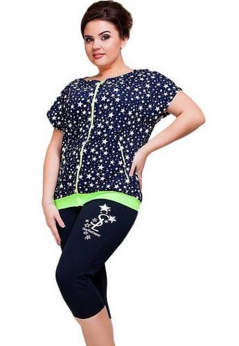 Спортивный костюм больших размеровтрикотажный двухнитка (батал)