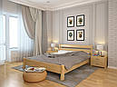 Ліжко односпальне з натурального дерева в спальню/дитячу Венеція (Сосна, Бук) Арбор Древ, фото 5