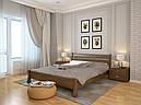 Ліжко односпальне з натурального дерева в спальню/дитячу Венеція (Сосна, Бук) Арбор Древ, фото 4