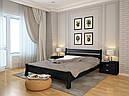 Ліжко односпальне з натурального дерева в спальню/дитячу Венеція (Сосна, Бук) Арбор Древ, фото 6