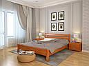 Ліжко односпальне з натурального дерева в спальню/дитячу Венеція (Сосна, Бук) Арбор Древ, фото 7