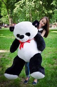 Великий плюшевий ведмедик 140 см. панда Рональд чорно-білий