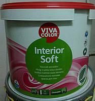 Совершенно матовая интерьерная акриловая краска для стен и потолков Viva Color  Interior Soft база А 9 л