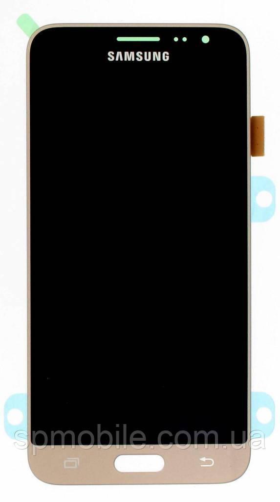 Дисплей Samsung J320 Galaxy J3 з сенсором Золотий Gold оригінал , GH97-18414B