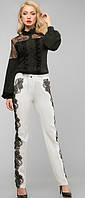 Изысканная блуза с кружевом черная, размеры 44-50