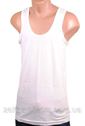 Майка мужская белая (MMB) M, фото 2