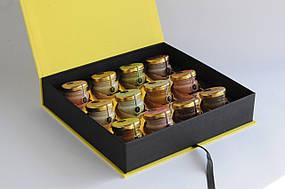 """Корпоративный подарок набор крем-меда """"12 вкусов меда"""""""