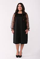 Красивое черное платье больших размеров Джоан