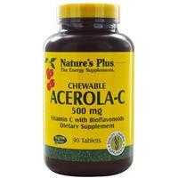 Жевательный витамин С, Nature's Plus, с ацеролой и биофлавоноидами, 90 таблеток