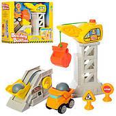 Игровой набор стройплощадка, кран 30см, звук механизма,стройтехника в коробке