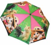 Женский складной зонт автомат (зеленый)